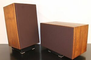 Choose-from-15-Colors-JBL-L-100-Grille-Set-Two-New-Walnut-Frames-amp-Inserts