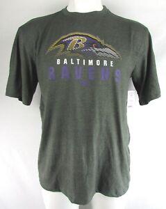 Baltimore-Ravens-NFL-Team-Apparel-Men-039-s-Gray-Short-Sleeve-T-Shirt