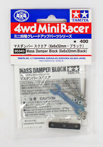 Tamiya-95343-Mini-4WD-Mass-Damper-Block-6-x-6-x-32-mm-Black