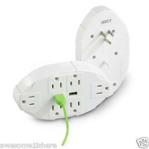 Outlet Multiplier USB Charger Switch Ports Wall Socket