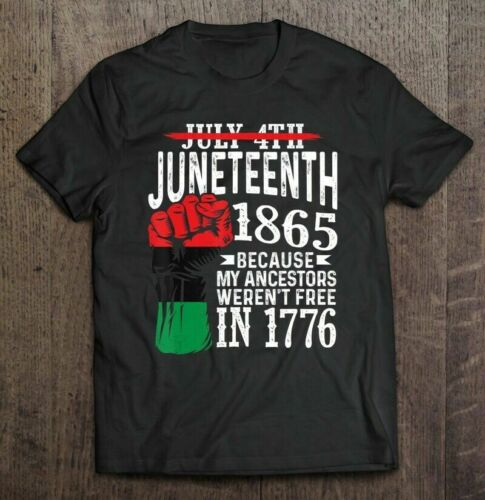 Juneteenth Ancestors T-Shirt Funny Cotton Tee Vintage Unisex T-shirt