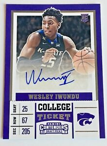 2017-18-PANINI-CONTENDERS-DRAFT-PICKS-WESLEY-IWUNDU-AUTOGRAPH-AUTO-ROOKIE-RC