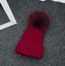 f6017c0bf2e item 2 Winter Women Warm Knitted Real Fur Pom Beanie Bobble Ski Hat Cap  Christmas Gift -Winter Women Warm Knitted Real Fur Pom Beanie Bobble Ski  Hat Cap ...