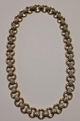 Vintage Swarovski Crystal Goldtone Necklace Swan S