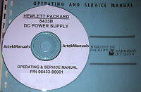 Hewlett Packard Operating & Service Manual For The 6433b Power Supply