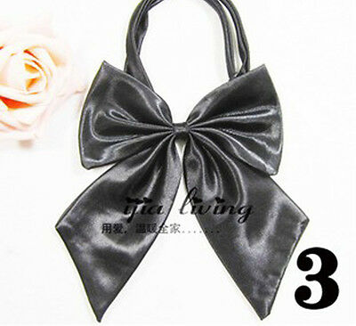 vintage butterfly bow tie Women kids sex Black dancing party #03