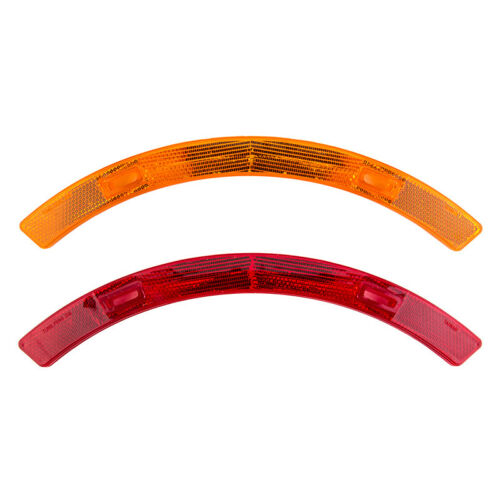 Sunlite Bicycle Wheel Reflector Set Long Red//Amber