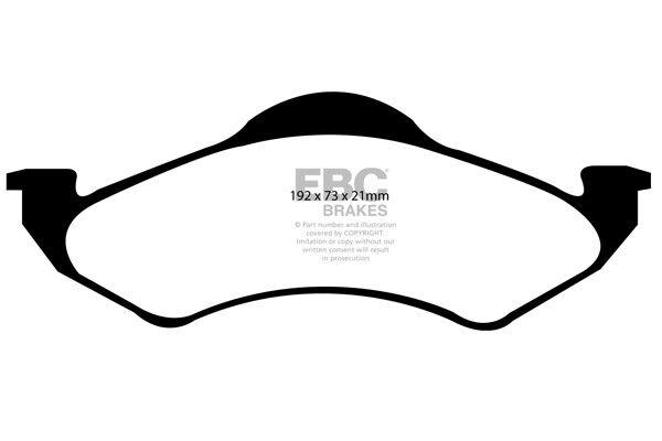 EBC Greenstuff Front Brake Pads for Dodge (USA) Durango 4.7 (2000 > 02)