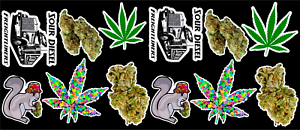 12-Marijuana-Weed-Cannabis-Vinyl-Stickers