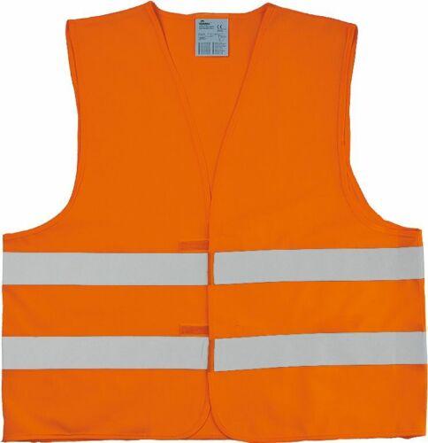 WARNWESTE Warnschutzweste 100/% Polyester Tricot LEUCHTORANGE