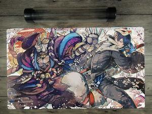 Wonder Woman YuGiOh//MTG//VG//PM Board Game Custom TCG Playmat Mat Free Best Tube