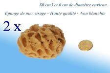 2 Eponges de mer 100% naturelle / Visage - Haute qualité ENVOI SUIVI  ����