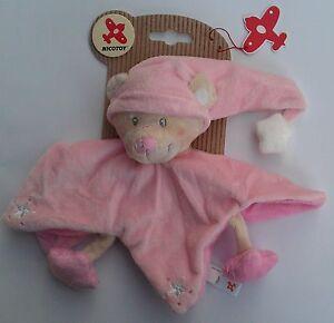 Nicotoy-Schmusetuch-Baby-Kuscheltuch-20cm-Baer-Rosa-K