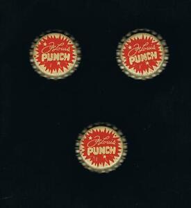 3-NRMT-VERY-RARE-boxer-JOE-LOUIS-PUNCH-soda-pop-UNUSED-bottle-caps-boxing-1940s