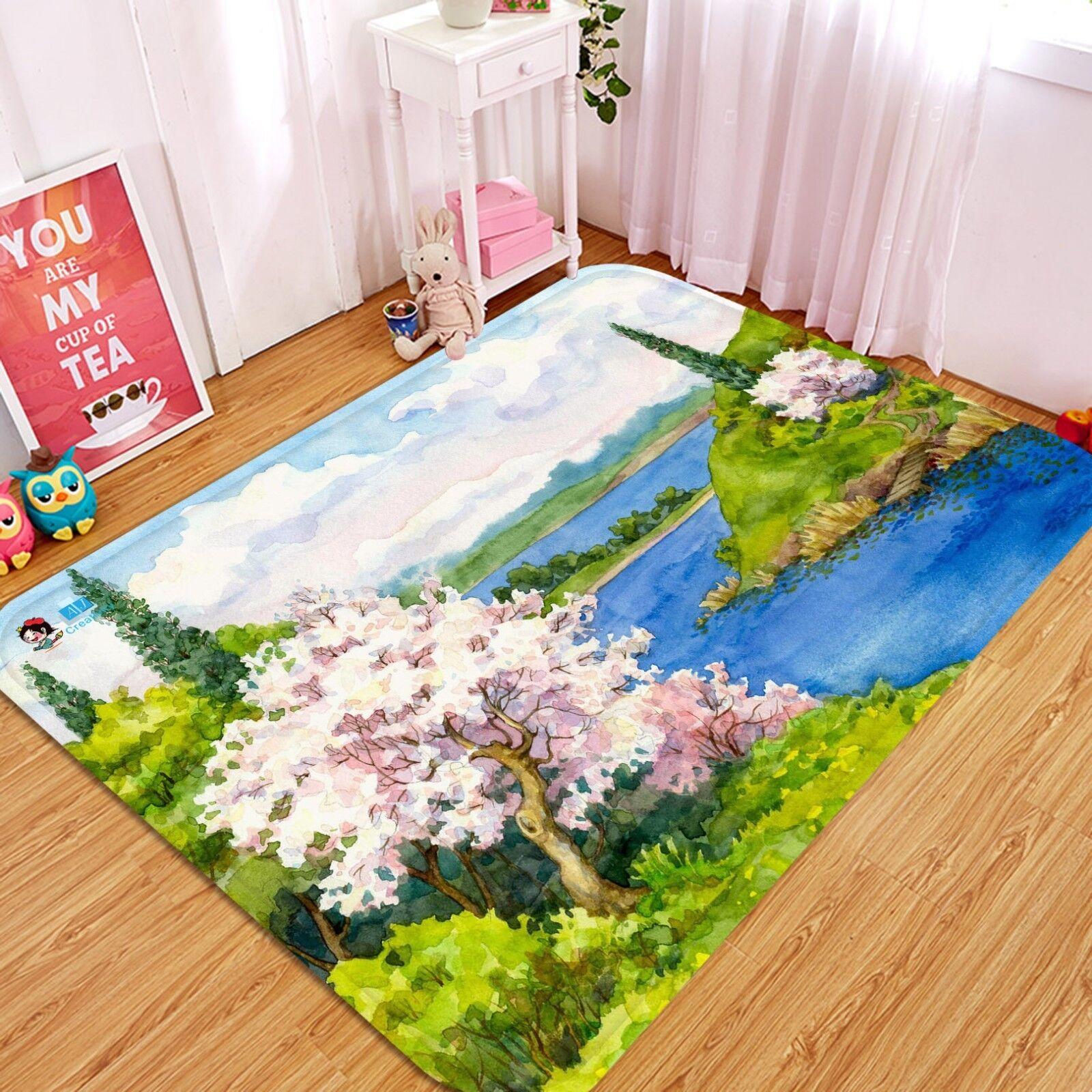 3D Foresta Pittura 023 Pavimento Antiscivolo Tappeti Elegante Tappeto IT Cobb