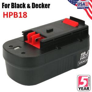 For-BLACK-amp-DECKER-18V-18-Volt-HPB18-Slide-Battery-Pack-Ni-CD-HPD1800-FSB18-New