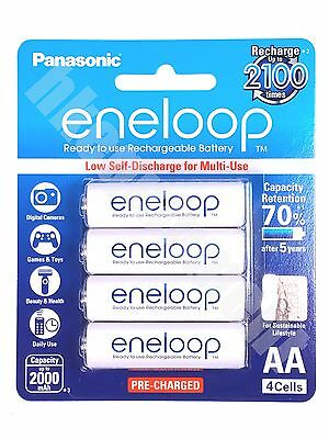 Panasonic eneloop Rechargeable AA BK-3MCCE 1.2v NiMH Battery x4 Sanyo