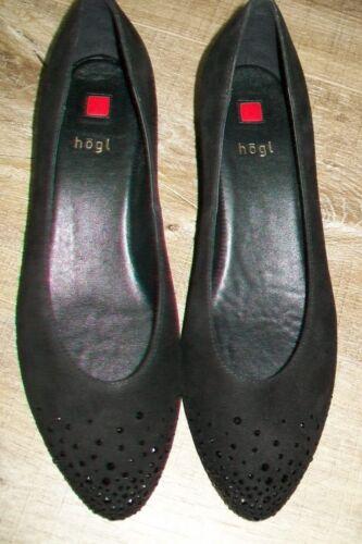 rrp Hogl Crystals 5 Black new 38 uk Euro Suede Shoes 170 Wedged eu swarovski UqPxUHrw