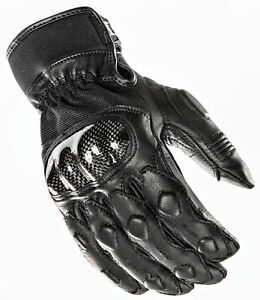 Power Trip Black Mens Grand National Leather Motorcycle Gloves Ebay