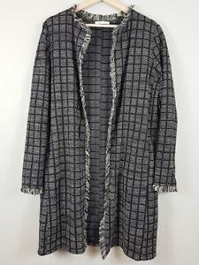 ZARA-Womens-Long-Boucle-Tweed-Jacket-Size-S-or-AU-10-US-6