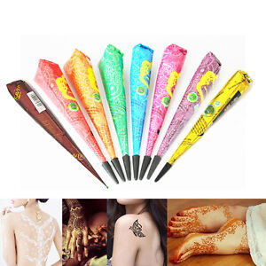 0a17f903e Indian Henna Paste Mehndi Cone Women Body Paint Temporary Tattoo ...