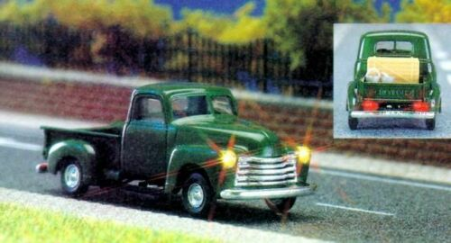 CHEVROLET PICK-UP verde scuro #neu in OVP # Busch 5643 traccia h0