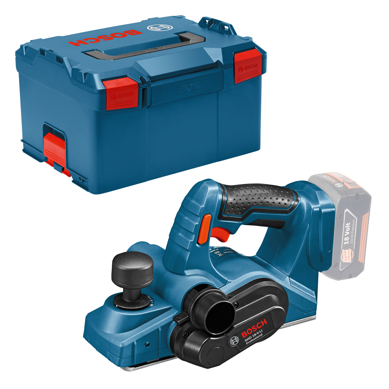 Bosch Akku-Hobel GHO 18 V-LI Professional ohne Akku ohne Lader in L-BOXX Gr. 3