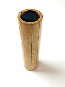 Vintage-Wooden-Bamboo-Vase-Decor-Teak-Asian-Mid-Century-Ikebana-11-5-034-x-2-5-034-mcm