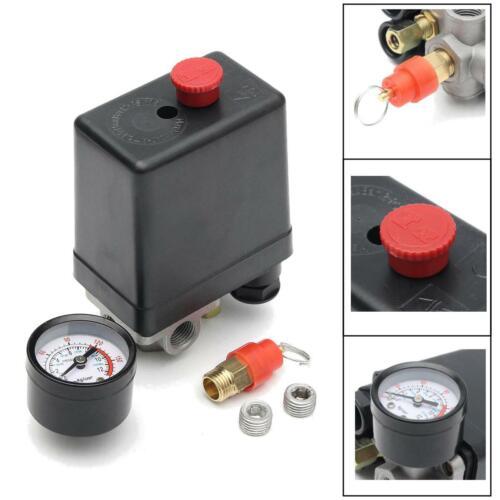 Safety Valve 175psi 4 Port Air Compressor Pressure Switch Manifold Regulator