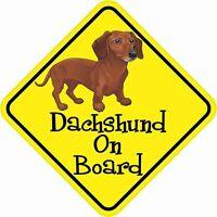 5″x5″ Dachshund On Board Bumper Stickers Vinyl Decals Window Sticker Car Decal