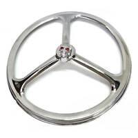 Chrome Tri Bar W Gem Skull 7 Headlight Ring Cover For Harley Head Light Lamp