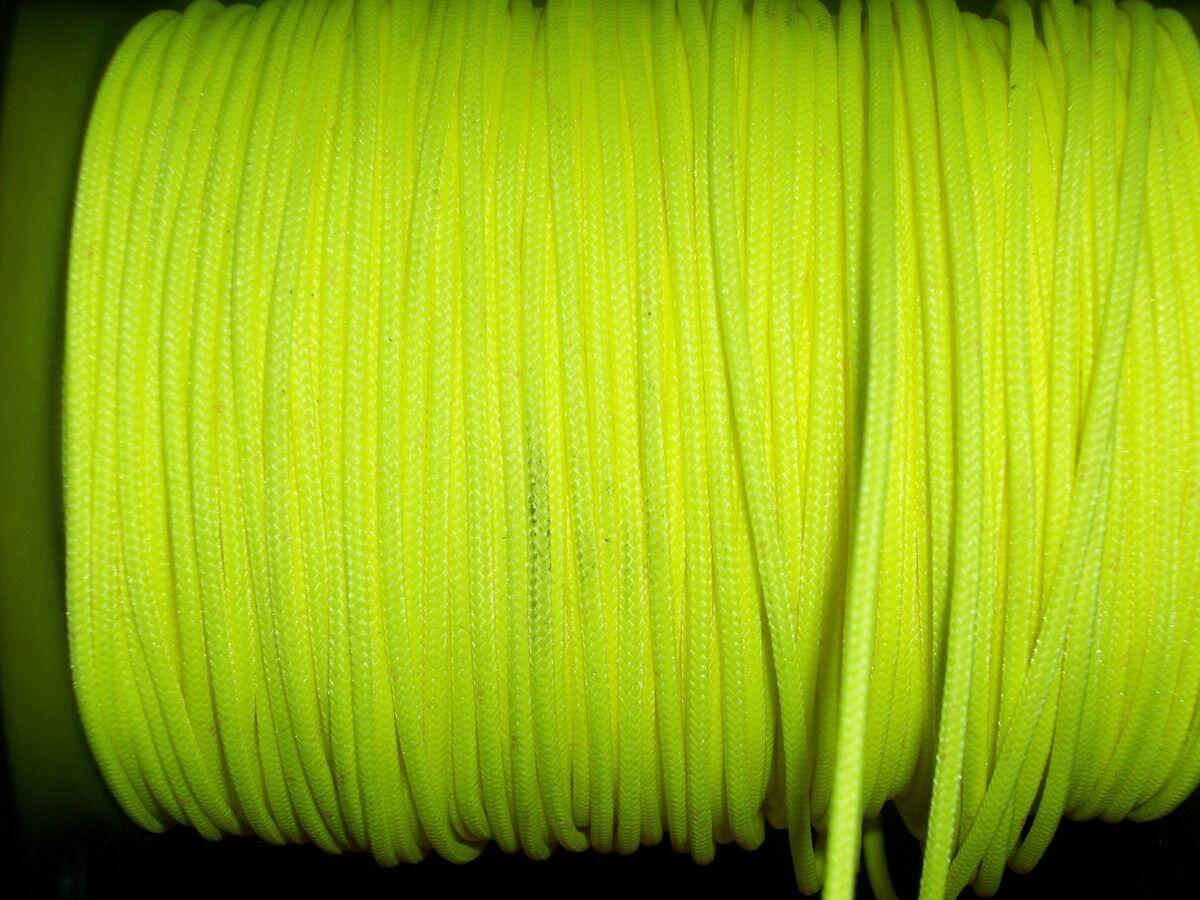 Flo Gelb BCY D Loop Rope Release Material Beispiel 1'3' 5'10' 25'50' 100'