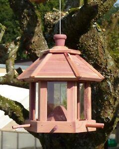 Madera casa de pájaros pájaro forraje casa con semillas resistentes a la intemperie 57144  </span>
