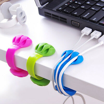 Headphone Headset Cord Winder Organizer Cable Collector Silica plastic 5.5x3.7cm