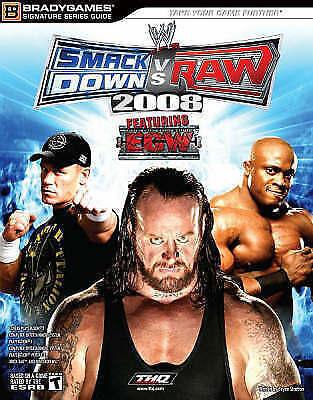 WWE SmackDown vs. Raw 2008 Signature Series Guide (Signature (Brady))-ExLibrary