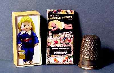 Dollhouse 1:12 Miniature Dy Dee Baby Doll Box 1950s retro dollhouse girl nursery