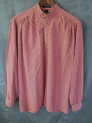 J. Peterman Co. Men's Shirt Size Small LS Gingham Plaid 100% Cotton Frontier
