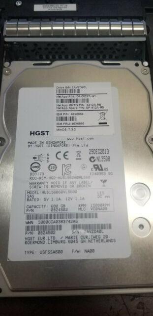 "IBM 46X0884 ST3600057SS 600GB 15K RPM 6G 3.5/"" SAS Hard Drive 46X0886 W// TRAY"