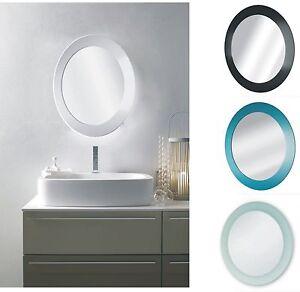 Image Is Loading Round Wall Mount Bathroom Mirror 40cm Diameter Black