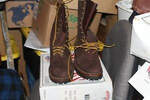 Whites-Smoke-Jumper-Firefighter-boots-400BV-BROWN-R-O-SIZE-13EE