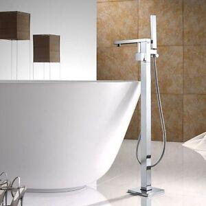 Details About Floor Mount Bath Clawfoot Tub Filler Faucet Bathtub Handshower Free Standing