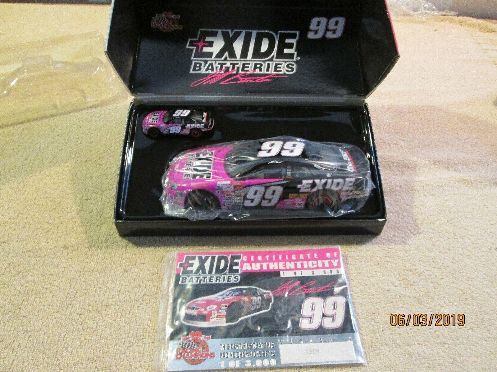 Racing Champions 1 24 Edición Limitada 1 de 3000 Exide Baterías Jeff Burton