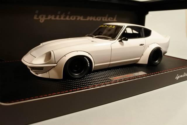 1 18 IG allumage  IG1100 Nissan LB-Works Fairlady Z (S30) Blanc