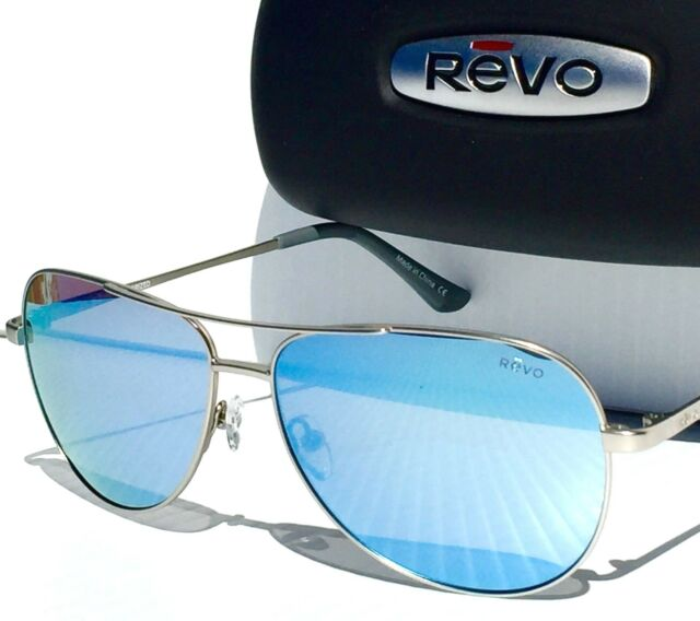 1a5c6d394bf REVO JOHNSTON Gunmetal Aviator w POLARIZED Blue lens Sunglass 5015 03 BL