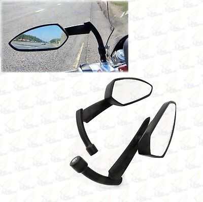 BLACK SKULL REARVIEW MIRRORS FOR SUZUKI MOTORCYCLE CRUISER SCOOTER M109R C50 M