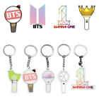 KPOP EXO Seventeen 17 BTS GOT7 WANNA ONE Light Stick Keychain Keyrings Gifts