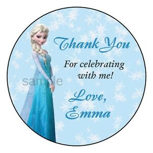 FROZEN ELSA Birthday Party Favor Personalized THANK YOU Labels Stickers | eBay