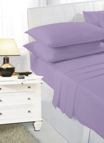 Flat Bed Sheet Plain Dyed Polycotton Sheets Size Single Double King Super king