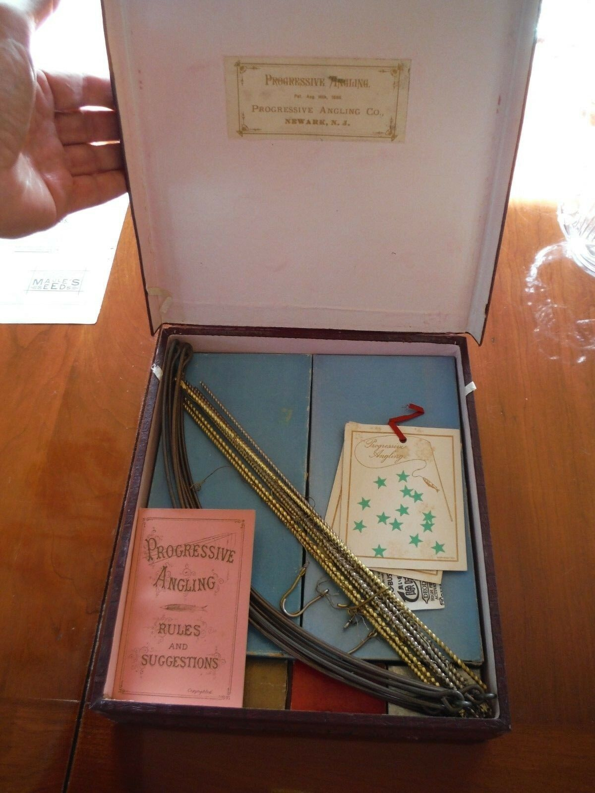 1886 PROGRESSIVE ANGLING GAME - MUSEUM QUALITY GAME - COMPLETE