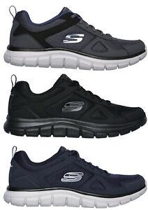 SKECHERS-52631-TRACK-SCLORIC-Memory-scarpe-uomo-sportive-sneakers-pelle-tessuto